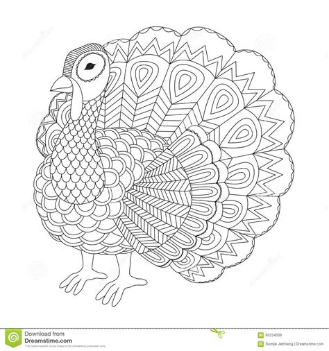 coloring pages for adults turkey detailed zentangle turkey for coloring page for adult