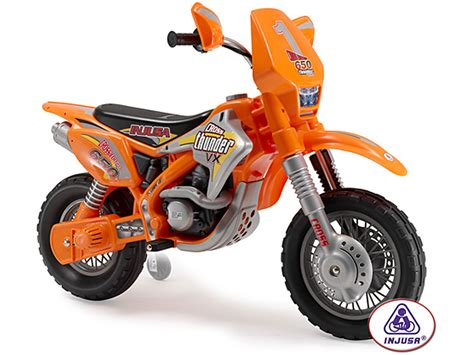 battery powered motocross bike injusa motocross bike thunder max vx 12v