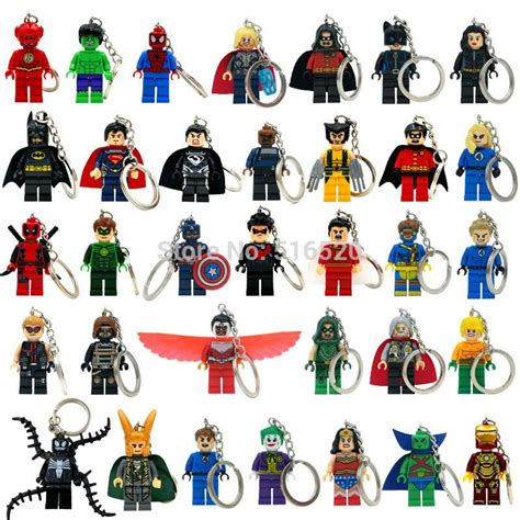 Keychain Besi Heroes Tipe 2 llaveros marvel keychains minifigures key chain