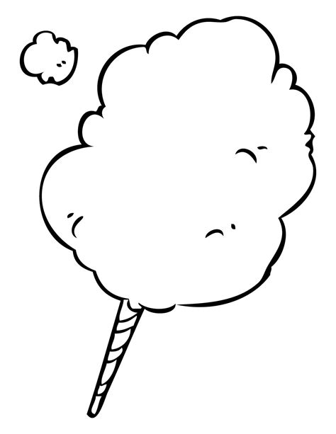 cotton candy coloring pages coloring home