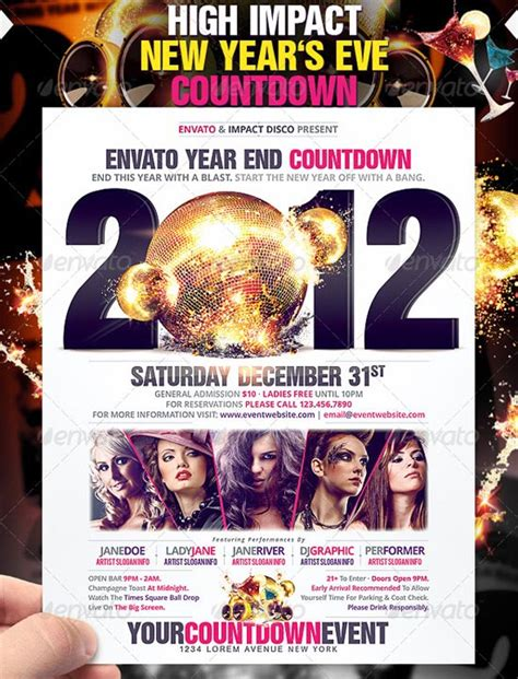 The Big List Top 100 Flyer Templates For 2011 Countdown Poster Template