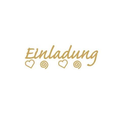Aufkleber Einladung Zur Goldenen Hochzeit by Einladungskarten Gestalten Sticker Quot Einladung Quot Gold