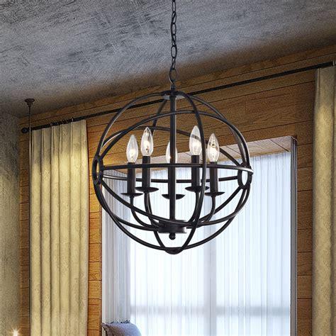 benita 5 light antique bronze metal globe chandelier benita 5 light antique black metal globe chandelier