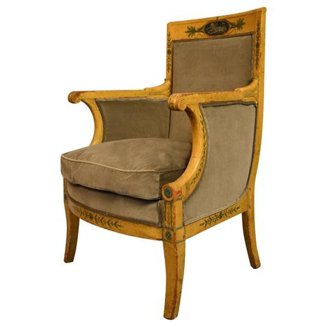 Bergere Armchair painted austrian bergere armchair 1820 for sale at 1stdibs
