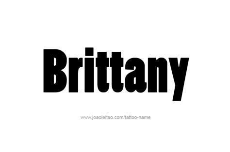 brittany tattoo designs name designs
