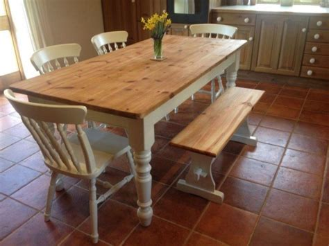 farmhouse kitchen table with bench furniture farmhouse kitchen table with bench gallery