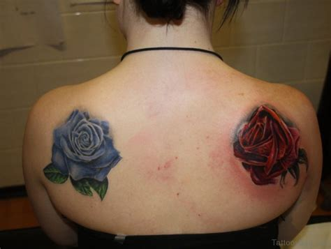 rose tattoo back 25 beautiful blue shoulder tattoos