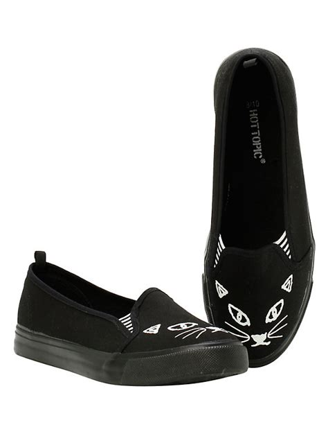 topic shoes black cat slip ons topic