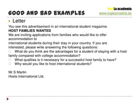 Student Letter Of Introduction To Host Family Writing Para El Certificate