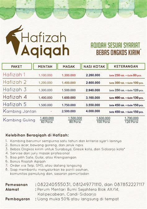 Aqiqah Yang Enak Surabaya Sidoarjo profile hafizah aqiqah aqiqah anak di mojosari 081 999 309 333