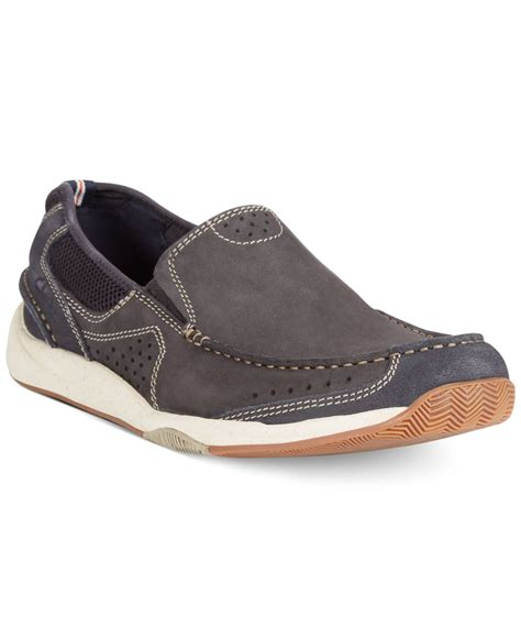 clarks banana boat shoes clarks men s allston free slip on boat shoes in blue for