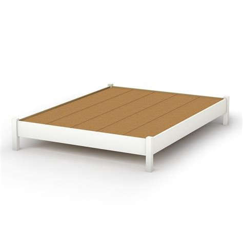 Platform Bed With Mattress Included Shop South Shore Furniture Step One White Platform Bed With Storage At Lowes