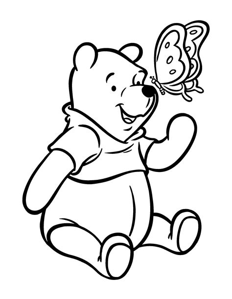Free Printable Winnie The Pooh Coloring Pages For Kids Childrens Printable Colouring Pages