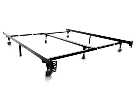 Low Metal Bed Frame 4 Way Low Profile Universal Adjustable Metal Bed Frame With Wheels Louisville Overstock Warehouse