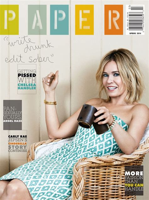 How To Make A Paper Magazine - chelsea handler paper magazine 2014 issue