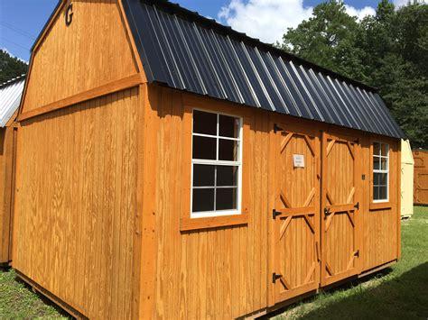 side lofted barn portable buildings backyard