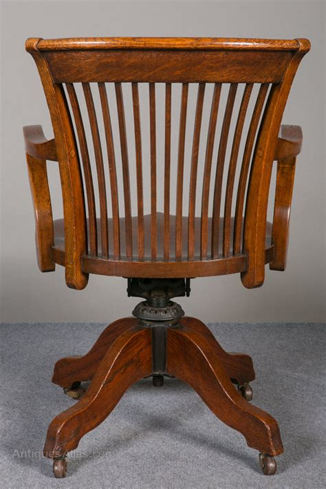 oak swivel reclining desk chair antiques atlas