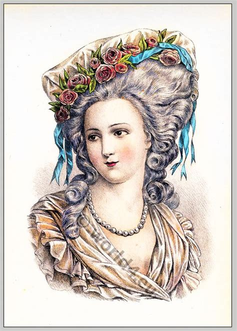 18th Century Hairstyles by The Evolution Of Modern Feminine Fashion 1786 Costume