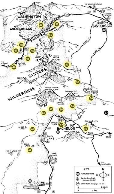oregon hiking trail maps the three hikes
