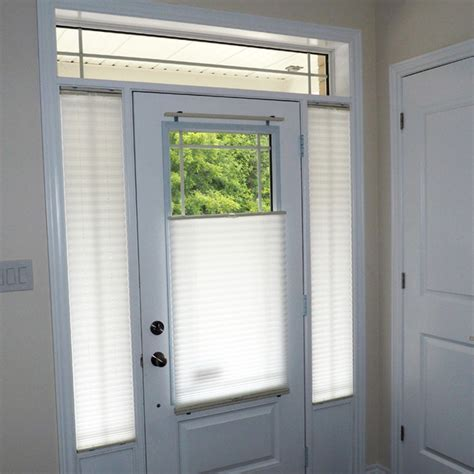 Door Glass And Sidelight Window Coverings Modern Entry Blinds For Front Doors With Glass