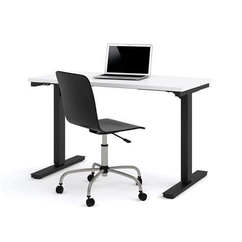 24 x 48 desk bestar 24 quot x 48 quot power adjustable standing desk in white