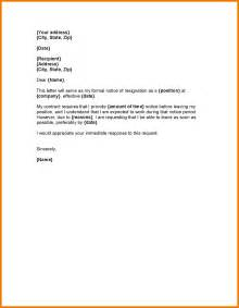 How To Give A Resignation Letter by 4 One Month Notice Period Letter Format Expense Report