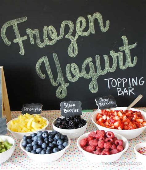 frozen yogurt topping bar the crafting chicks