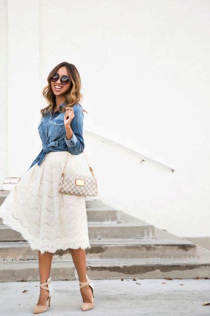 20 lace skirt ideas for this season styleoholic