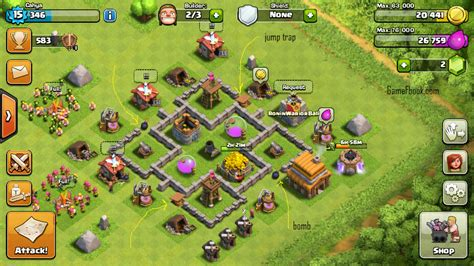 layout pertahanan coc th 4 strategi th 4 coc farming upgrade dan desain base blog