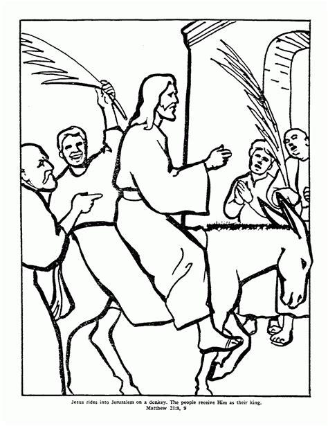 coloring page jesus triumphal entry jesus triumphal entry into jerusalem on coloring