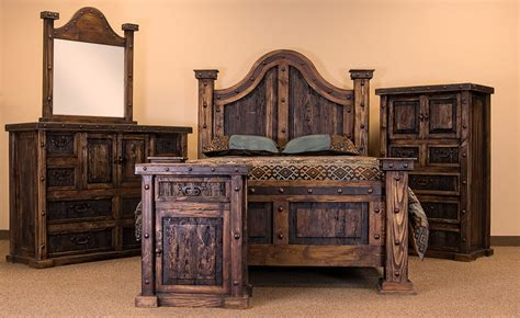 rustic wood bedroom furniture sets von furniture laguna rustic bedroom set