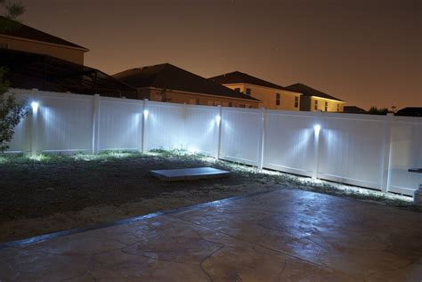 lights on fence ideas backyard fence ideas to keep your backyard privacy and