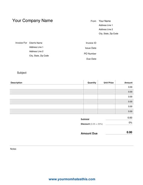 make your own invoice template free make your own invoice template free 3 best and