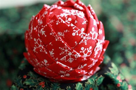 fabric covered styrofoam ball ornaments diy fabric pinecones spruce up your home this season bit rebels