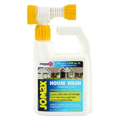 jomax house cleaner zinsser 1 qt jomax house wash hose end 6 pack 60180 the home depot