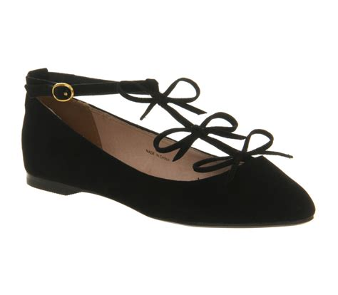 black flat womens shoes womens office tinder t bar black flats ebay