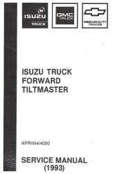 how to download repair manuals 1993 isuzu stylus electronic toll collection 1993 chevrolet gmc isuzu npr w4 4000 diesel commercial truck forward tiltmaster service manual