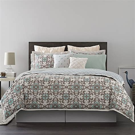 real simple bedding real simple 174 camille reversible duvet cover bed bath