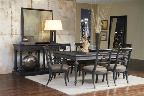 unique dining room sets vintage tempo unique charcoal rectangular leg dining room set from pulaski 402240 coleman