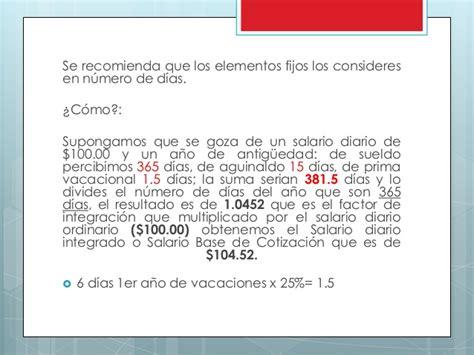 sueldo integral diario en bogota presentaci 243 n nomina integral percepciones