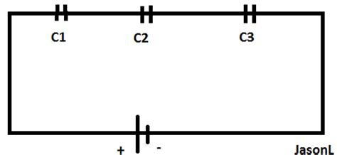 capacitor series connection how to calculate capacitor in series