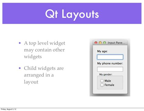 qt layout visible qtruby