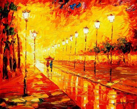 modern art modern art romantic autmun alley 20x24 quot oil painting