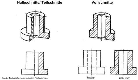 technisches zeichnen schnitt hochschulwiki tutorium wiw konstruktion i