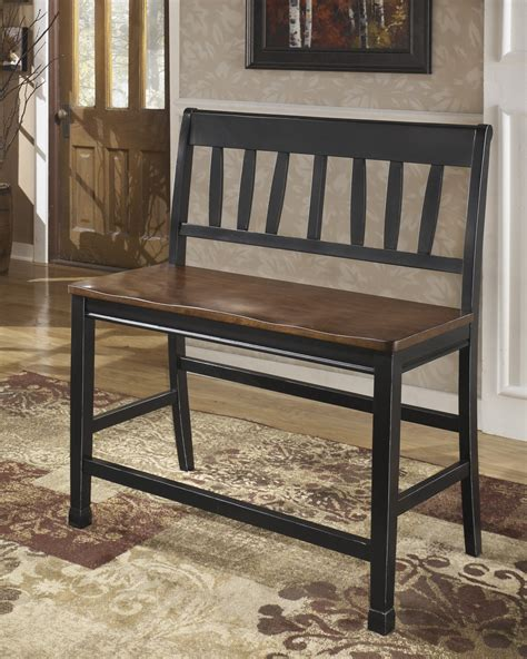 dual seat counter bench ashley owingsville double counter stool ashley d580 323 at