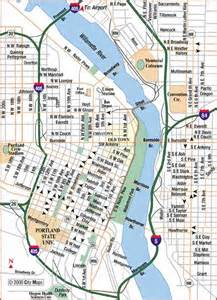 portland on map of oregon road maps of portland oregon