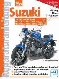 Motorrad Suzuki Sv 650 Tuning by Suzuki Motorrad Sv 650 650 S Reparaturanleitung 1999 2009