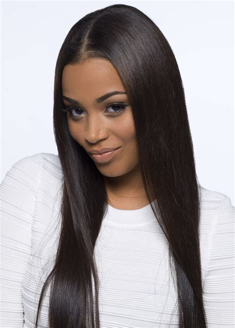 show a recent photo of a middle part human hair styles and middle part wig lauren london middle part new style for 2016 2017