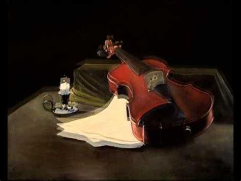 candela ad olio violino e candela olio su tela 50x60