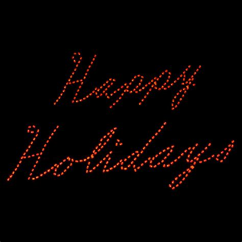 script happy holidays led sign 38 w